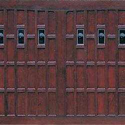 Wessex brown blenheim garage doors