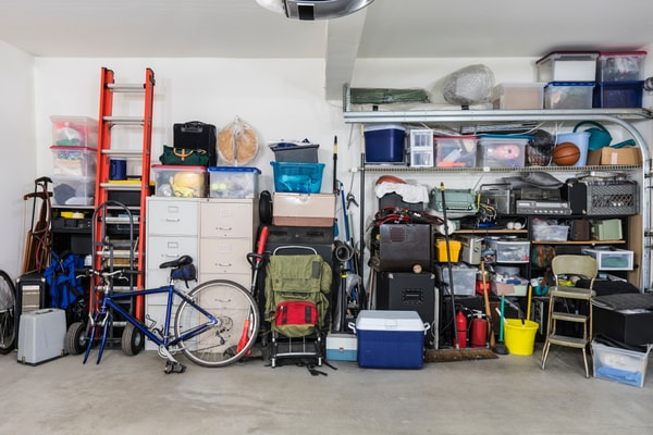 garage interior, declutter